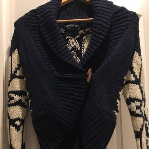 American Eagle wool sweater - open front